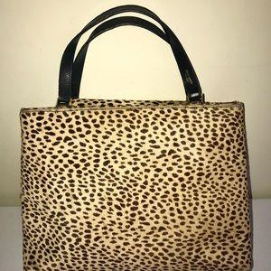 Kate Spade Animal Print Handbag Calf Hair Leather